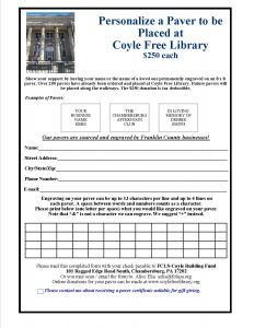 Coyle Library Paver Form